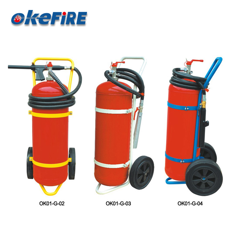 Portable Foam Fire Extinguisher With Trolley