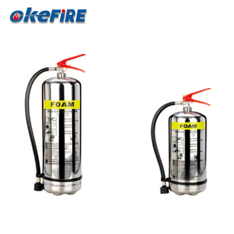 Okefire Stainless Steel Foam Fire Extinguisher